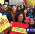 image of students with protest posters