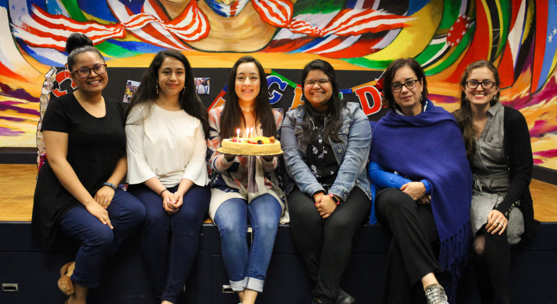 staff celebrating graduation