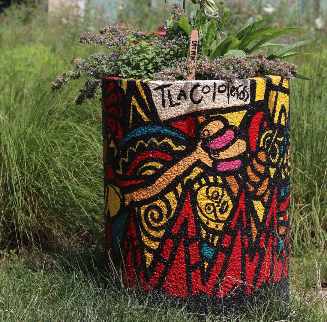 Urn painted by Sam Kirk