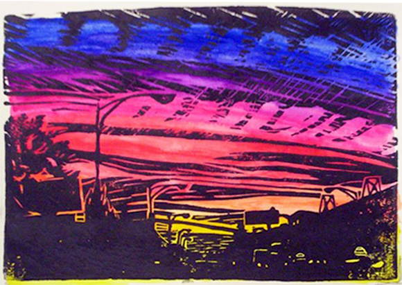 Sunset over Irving Park