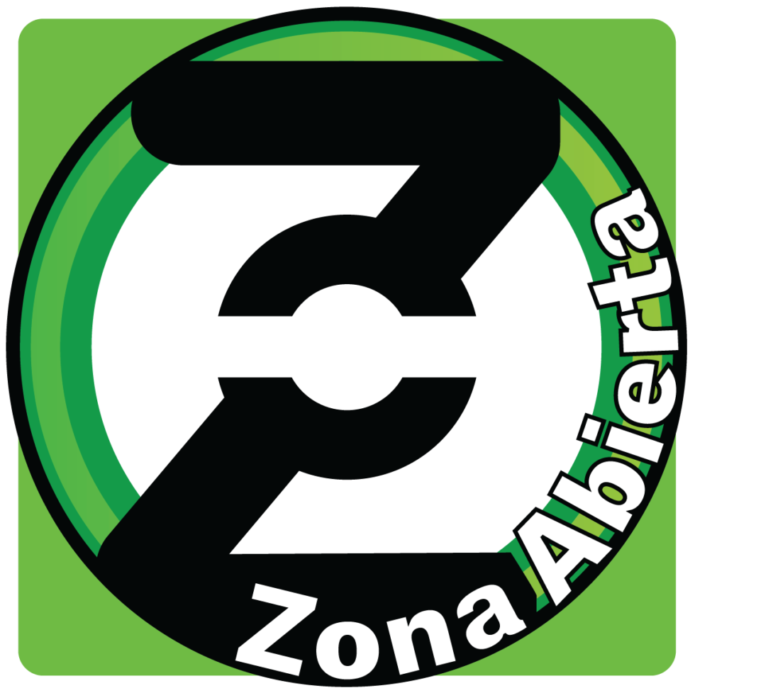 Green circle with a black, bold Z in the middle along with the words Zona Abierta wrapped along the circle