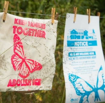 tote bag reads: Keep Families Together, Abolish ICE