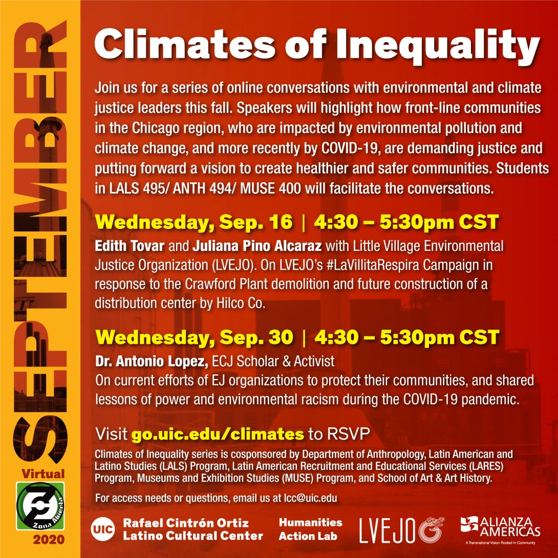 Climates of Inequality public programming for September 2020