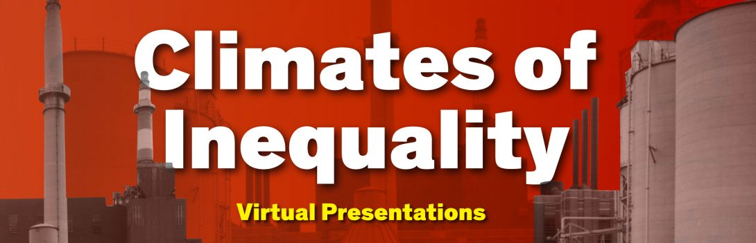 Banner image with a red duotone image of a factory. On top, the words