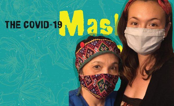 Erika Mei Chua Holum and mother wearing mask