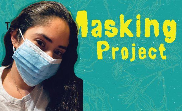 Jazmin Martinez wearing a blue surgical mask