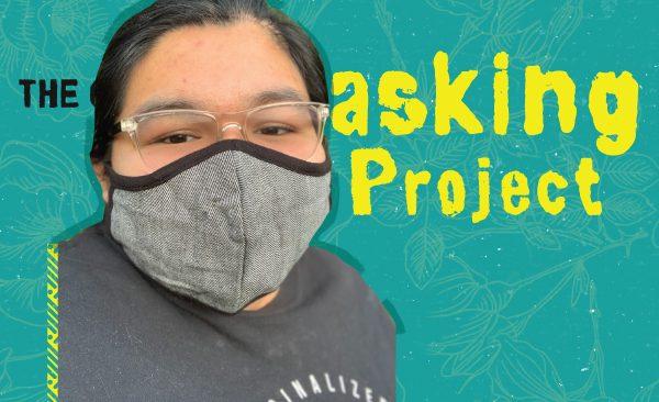 Yesenia Garcia with a gray mask